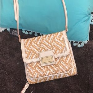 Nine West brown and white purse